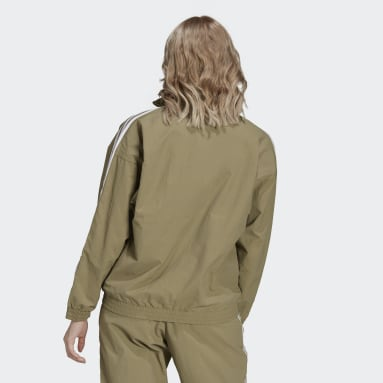 Chaqueta Adicolor Classics Lock-Up Verde Mujer Originals