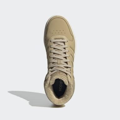 бежевый Высокие кроссовки Hoops 2.0