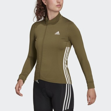 Maillot The COLD.RDY Long Sleeve Cycling Vert Femmes Cyclisme