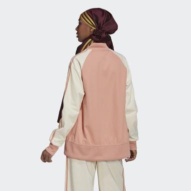 Women Originals Pink Adicolor Classics Collegiate Track Jacket