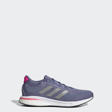 Kids Running Purple Supernova Primegreen Boost Running Shoes