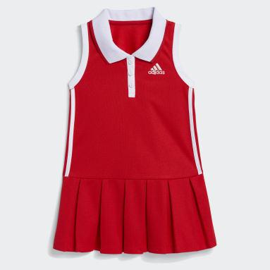 Infant & Toddler Training Red Sleeveless Polo Dress