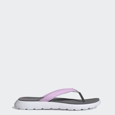 Women Swimming Grey Comfort Flip-Flops