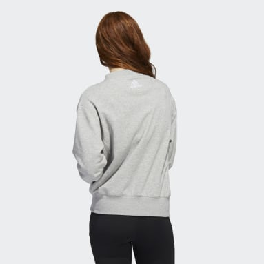 Women's Hockey Grey Maple Leafs Vintage Crew Sweatshirt