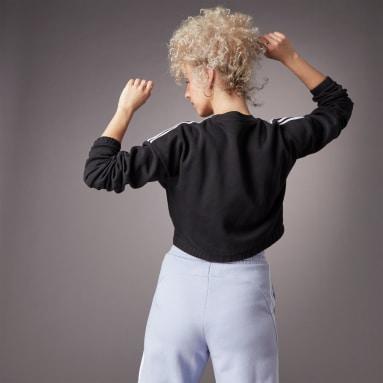 Women Sportswear Black Hyperglam Crop Crew Sweatshirt