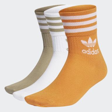 Originals White Mid Cut Crew Socks 3 Pairs