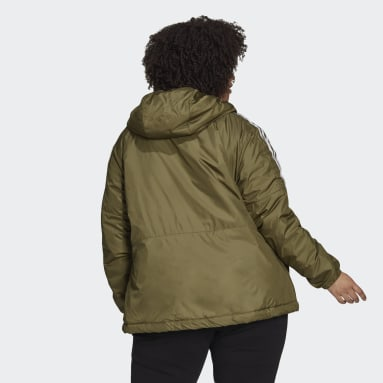 Women City Outdoor Green Essentials Insulated Hooded Jacket (Plus Size)
