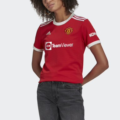 Women Football Red Manchester United 21/22 Home Jersey