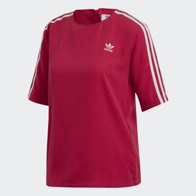 Women Originals Pink 3-Stripes T-Shirt