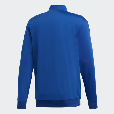 Men's Essentials Blue Essentials 3-Stripes Tricot Track Top