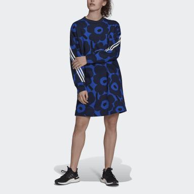 Women Sportswear Blue adidas Sportswear Marimekko Fleece Dress