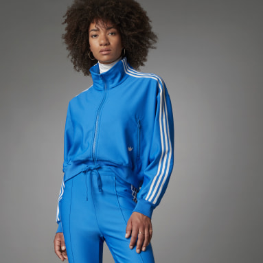 Veste de survêtement Blue Version Loose Beckenbauer Bleu Femmes Originals