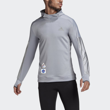 Sudadera con capucha Space Race Gris Hombre Running