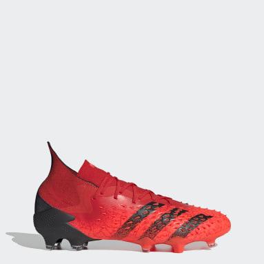 Chuteira Predator Freak.1 Campo Vermelho Homem Futebol