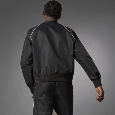 Chamarra Deportiva Seefeld Blue Version Negro Hombre Originals
