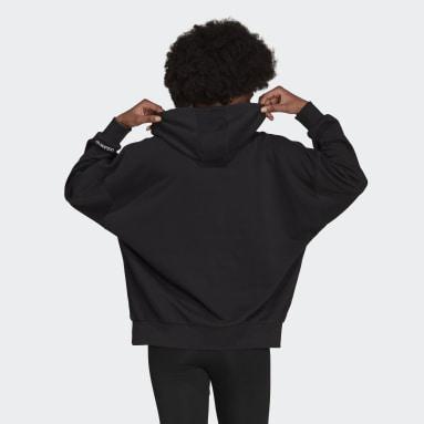 Sweat-shirt à capuche Adicolor Shattered Trefoil Oversize Noir Femmes Originals