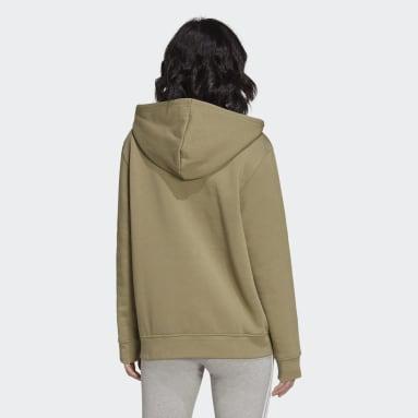 Women Originals Green Adicolor Essentials Fleece Hoodie