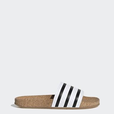 Kvinder Originals Hvid adilette Cork sandaler