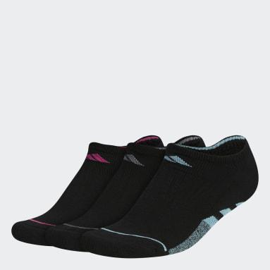 Women Training Black Cushioned No-Show Socks 3 Pairs