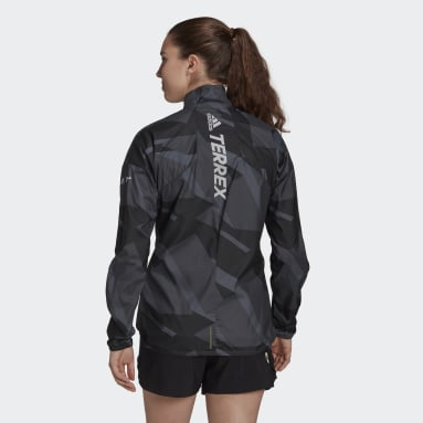 Giacca a vento Terrex Parley Agravic Trail Running WIND.RDY Grigio Donna TERREX