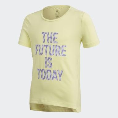 Camiseta The Future Today Amarillo Niña Yoga
