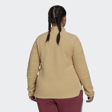 Women's Sportswear Beige Tiro Winterized Sherpa Jacket (Plus Size)