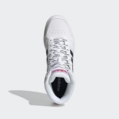 Men Sport Inspired White Hoops 2.0 Mid Shoes
