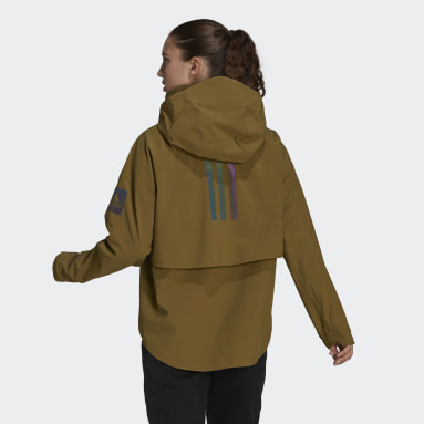 Chaqueta impermeable MYSHELTER Marrón Mujer Outdoor Urbano