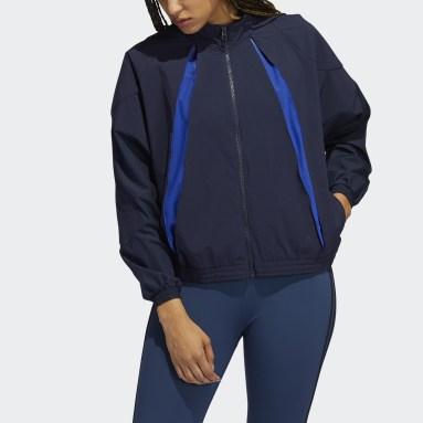 Giacca da allenamento Coldweather AEROREADY Blu Donna Running