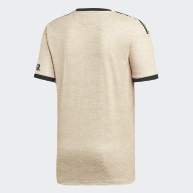 Camiseta Visitante Manchester United Beige Hombre Fútbol