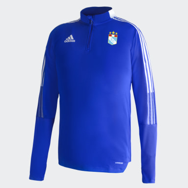 Camiseta Manga Larga de Entrenamiento Sporting Cristal Azul Hombre Fútbol