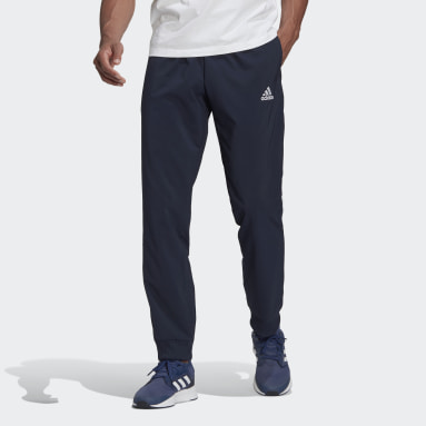 Men Sport Inspired Blue AEROREADY Essentials Stanford Tapered Cuff Embroidered Small Logo Pants