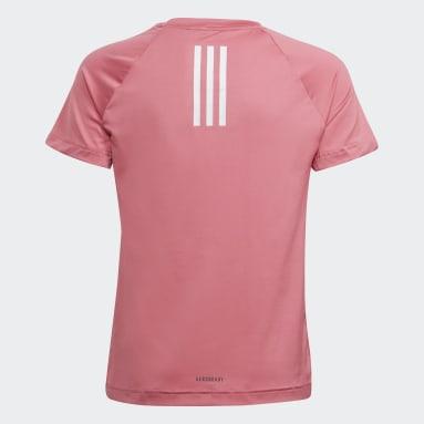 Youth 8-16 Years Gym & Training Pink XFG AEROREADY Breathable Slim Training T-Shirt