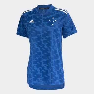 CAMISA PRÉ JOGO CRUZEIRO Azul Mulher Futebol