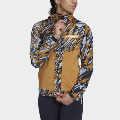 Women TERREX Blue Terrex Multi Graphic Stretch Softshell Jacket