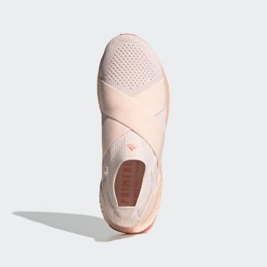 ผู้หญิง วิ่ง สีชมพู รองเท้า Ultraboost DNA ทรงสลิปออน