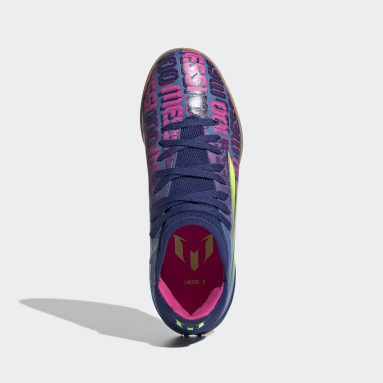 Scarpe da calcio X Speedflow Messi.3 Indoor Blu Bambini Futsal