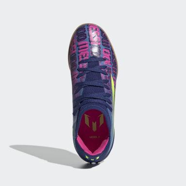 Kids Futsal Blue X Speedflow Messi.3 Indoor Boots