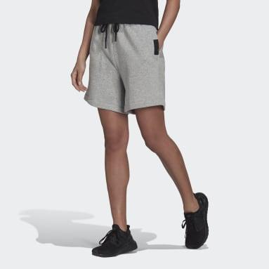 Women Sportswear Grey adidas Sportswear Studio Lounge Fleece Shorts