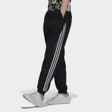 Track pants Floral Piping Woven High-Waist Nero Donna Originals
