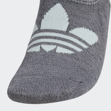 Women's Originals Grey Trefoil Superlite Super-No-Show Socks 6 Pairs