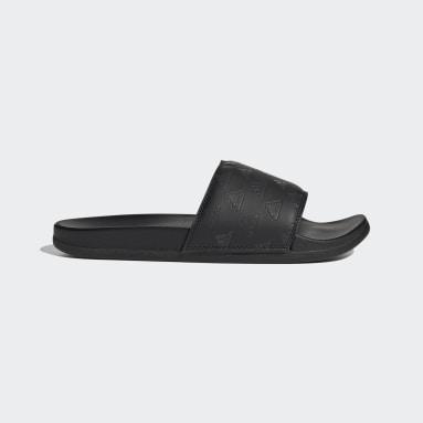 ว่ายน้ำ สีดำ รองเท้าแตะ Adilette Comfort