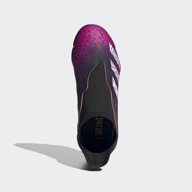 Chaussure Predator Freak.3 Laceless Terrain turf Noir Enfants Football