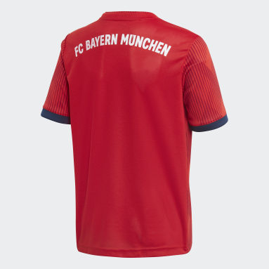 Jersey de Local FC Bayern Réplica (UNISEX) Rojo Niño Fútbol