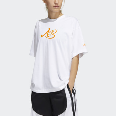 Basketball White Candace Parker Graphic Tee (Gender Neutral)