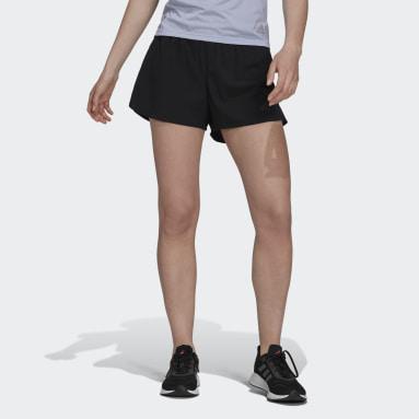 ผู้หญิง วิ่ง สีดำ กางเกงวิ่งขาสั้น HEAT.RDY