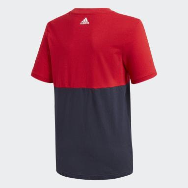 Remera Linear Colorblock Rojo Niño Training