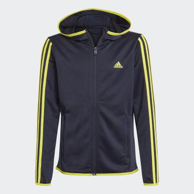 Felpa con cappuccio Designed 2 Move 3-Stripes Blu Ragazzo Sportswear