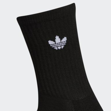 Women's Originals Black Icon Crew Socks 3 Pairs