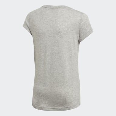 Camiseta Must Haves Badge of Sport Gris Niña Yoga